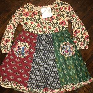 "Dresses & Skirts - Handcrafted dress from ""little handprints""  2T"